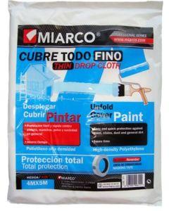 Plastico protector fino 04mtx05mt cubretodo miarco