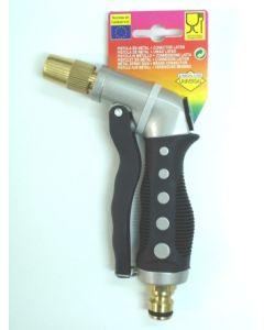 Pistola riego gatillo delantero toma automatica boquilla metalica metal s&m 551215