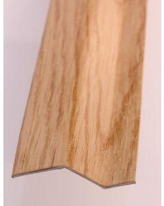 Pletina perfilada distinto nivel adhesivo 73x45mm acero inox roble dicar