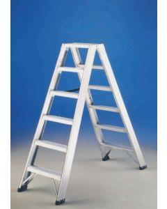 Escalera industrial doble 9 peldaños 2,10mt aluminio p1 svelt