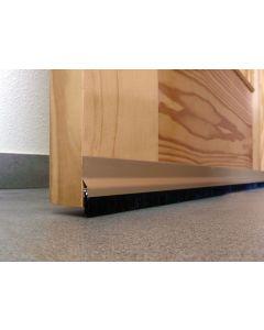 Burlete bajo puerta adhesivo cepillo 092cm aluminio oro burcasa 127480