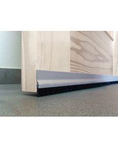 Burlete bajo puerta adhesivo cepillo 092cm aluminio plata burcasa 127490