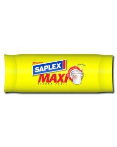Saco basura 87x110cm 10 pz plastico naranja saplex