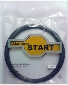 Alambre cuerda piano 1mm 250gr alambres start acero 250 gr al250100