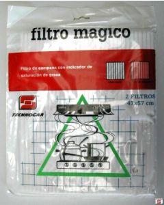 Filtro campana extractora magico 2pz 47x57cm tecnhogar