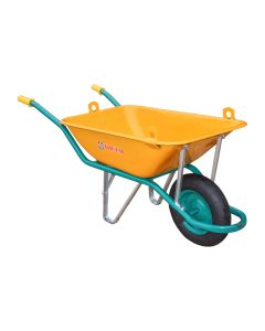 Carretilla construccion profesional 90lt metal amarillo c1/550 theca