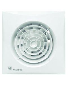 Extractor baño axial silencioso compuerta antiretorno 95m3/h blanco silent 100cz