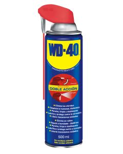 Aceite lubricante multiuso doble accion wd-40 500 ml