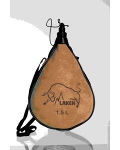 Bota vino recta 1,5lt cuero-serraje pocket laken pk1500-r