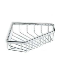 Cestillo baño 23x16x45cm tatay metal cromo rinconera 6605900