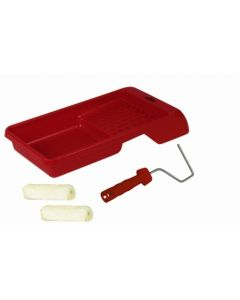 Cubeta pintor plana rodillo+2 recambios esmaltar y barnizar rulo pluma