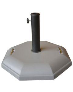 Pie parasol octogonal 32kg cemento natuur nt61199