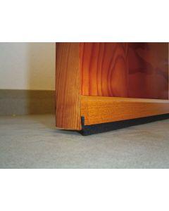 Burlete bajo puerta adhesivo cepillo 091,5cm madera sapeli burcasa 127360