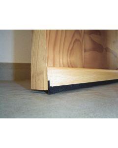 Burlete bajo puerta adhesivo cepillo 091,5cm madera roble burcasa 127390