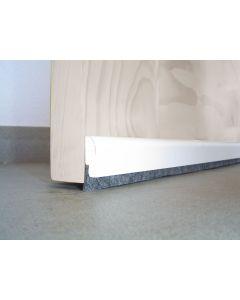 Burlete bajo puerta adhesivo cepillo 091,5cm madera blanco burcasa 127370