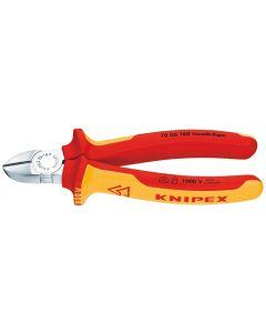 Alicate corte 180mm knipex ma diagonal aislado 1000v mango bicomponente 70 06 180