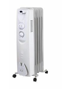 Radiador electrico aceite 05 elementos 1000w vivahogar