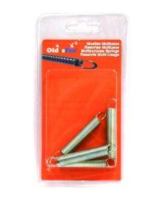 Muelle traccion y compresion multiusos 2,5x15x70-16v alambre fosfatado zincado oldisfer 4 pz 2140