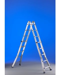 Escalera industrial multiusos telescopica 10+10 peldaños 5,15mt aluminio eplus s
