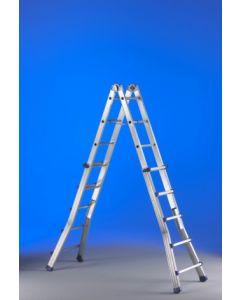 Escalera industrial multiusos telescopica 12+12 peldaños 6,25mt aluminio eplus s