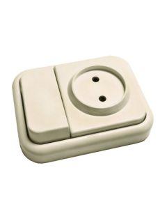Conmutador electricidad interruptor blanco bf 20318012