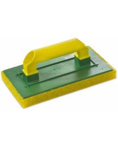 Talocha albañil 290x170mm jar amarillo ma mango cerrado plastico esponja 2057099