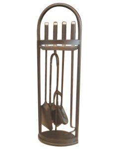 Juego chimenea calefaccion h.70cm forja durban vivahogar 5 pz vh66767