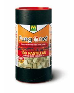Pastilla encendido barbacoa ecologica fuegonet 100 pz 231169
