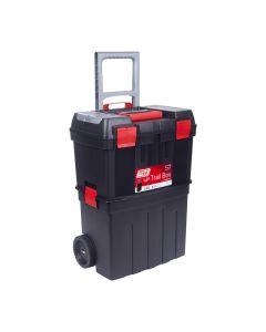 Carro herramientas taller movil bandeja 470x290x630mm polipropileno negro nº57 t