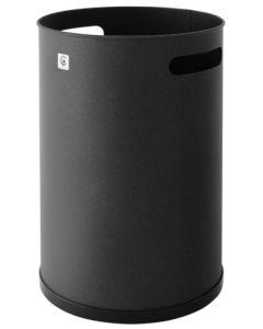 Papelera residuos 32x21cm metal negra cilindro