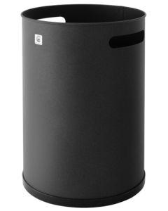 Papelera residuos 37x25cm negra metal cilindro