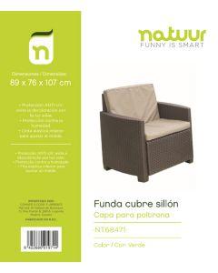 Funda proteccion sillon 89x76x107cm pvc verde natuur nt68471