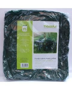 Funda proteccion mesa sillas 173x215x90cm pvc verde natuur nt68473