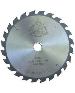 Disco corte madera 24 dientes 180x2,4x30 mm widia stayer