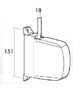 Recogedor persiana sobreponer mini 18mm blanco/gris plastico gaviota 06-012-001