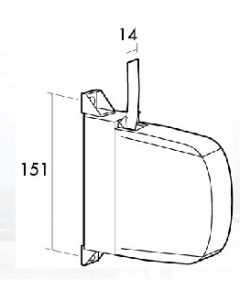Recogedor persiana sobreponer mini 14mm blanco/pintas plastico gaviota 06-011-021