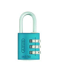 Candado seguridad combinacion programable 30mm azul abus 145/30azul