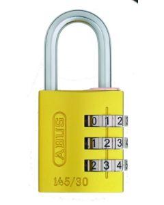 Candado seguridad combinacion programable 30mm amarillo abus