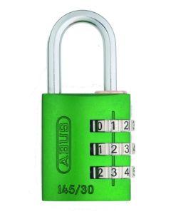 Candado seguridad combinacion programable 30mm verde abus 145/30verde
