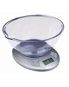 Balanza cocina electronica con recipiente 5kg ilsa