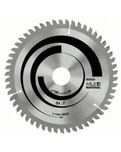 Disco corte aluminio 54 dientes 190x2,4x30 mm widia bosch