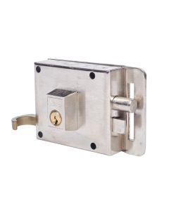 Cerradura sobreponer picaporte y palanca derecha 100x55mm hierro niquelado 610dhn yale 610dhn