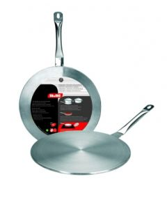 Placa cocina difusora vitro-induccion 24cm acero inox ibili
