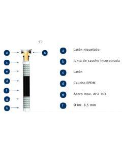 Latiguillo calefaccion hembra hembra 16 bares maximo 110º 3/4-3/4-100cm inox filnox 705100029
