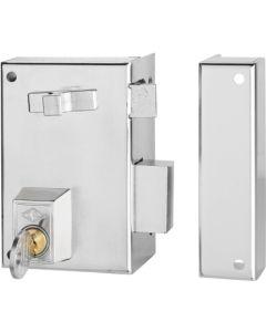 Cerradura sobreponer picaporte y palanca izquierda tirador desde interior 60x35mm niquel 56a60i/0 cvl 56a60i/0