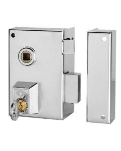Cerradura sobreponer picaporte y palanca derecha accionable mediante manivela 60x35mm niquel 56b60d/0 cvl 56b60d/0