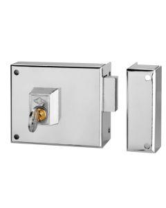 Cerradura sobreponer solo palanca derecha solo llave 100x60mm niquel 124a10d/0 cvl 124a10d/0