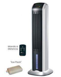 Climatizador evaporativo torre mando distancia 70w-5 velocidades 31x29x88cm negro climacity rafy 81         72541