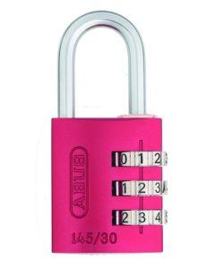 Candado seguridad combinacion programable 20mm rojo abus 145/20rojo