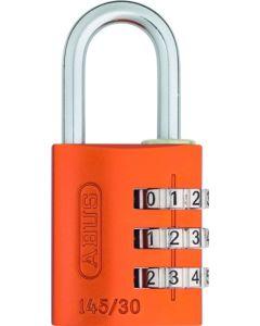 Candado seguridad combinacion programable 20mm naranja abus 145/20naranja